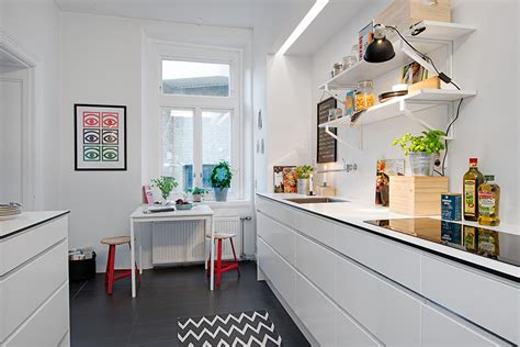 apartment galley kitchen swedish apartment boasts exciting mix of and new 1307
