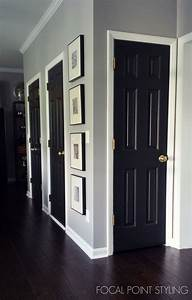 Focal point styling painting interior doors black for Interior trim and door color ideas