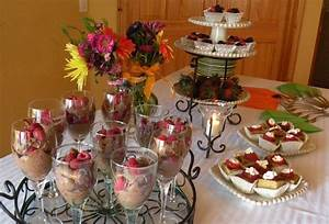style unwrapped decadent dessert bridal shower menu and With wedding shower foods