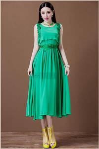 casual tea length dresses - Dress Yp
