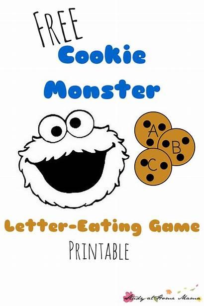 Cookie Monster Alphabet Letters Printable Letter Eating