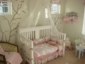 attractive ideas for baby girl nursery with wall mural With simple decorating girl nursery design