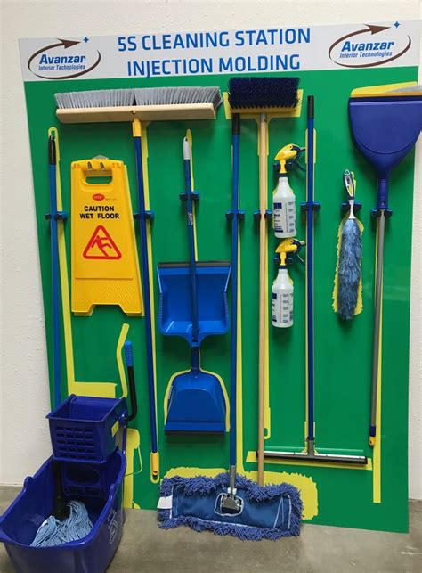 supply   color coded cleaning tools visual
