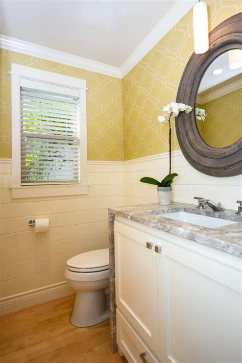Small Powder Room Is Light & Bright in White & Gold