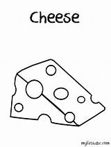 Coloring Cheese Macaroni Mouse Template Animals Popular Coloringhome sketch template