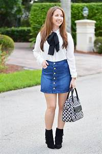 Cute Mini Skirt with Button Front Style for Ladies u2013 Designers Outfits Collection