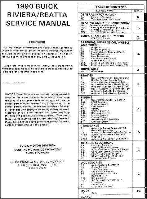 how to download repair manuals 1990 buick coachbuilder auto manual 1990 buick riviera and reatta shop manual 90 original oem repair service book ebay