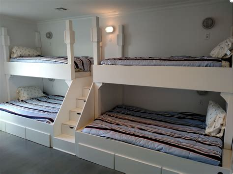 Buy A Handmade Queen And Twin Quad Bunk Bed With Step And