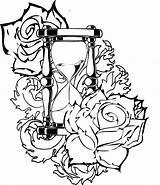 Preacher Coloring Tattoo sketch template