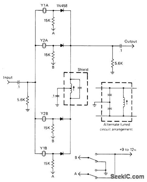Diode Switched Crystals Oscillator Circuit Signal