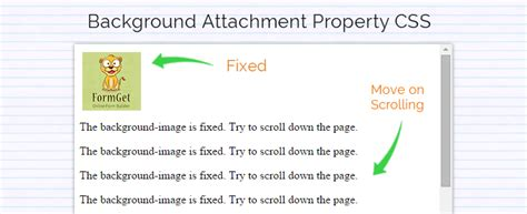 Background Attachment Css Css Background Attachment Property Formget