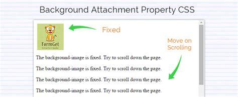 Css Background Attachment Css Background Attachment Property Formget