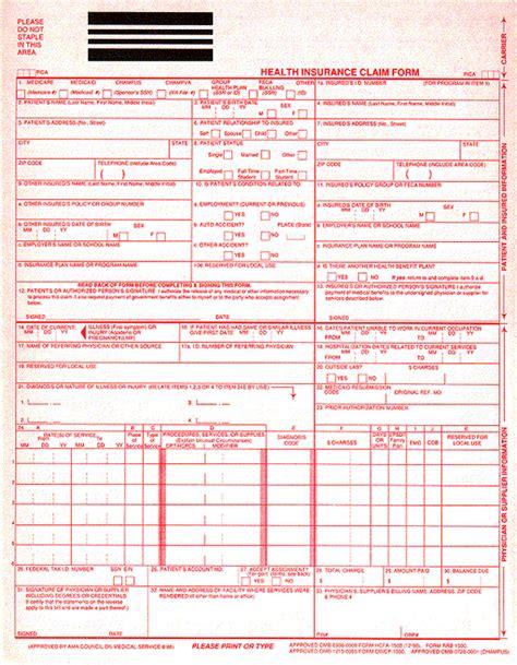 medicare 1500 form 1500 claim form template templates resume exles