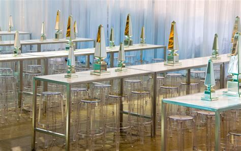 Philippe Starck's Charles Ghost Stools Provided Seating