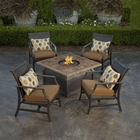 Sams Club Patio Set With Pit by Savona Ii Pit Chat Set 5 Pc Sams Club Projects