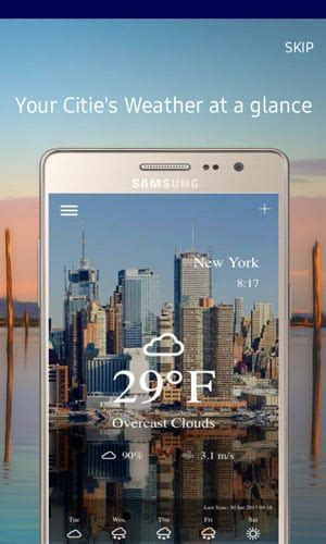 smartphone app weather for samsung z1 z2 and z3