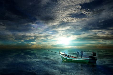 Boat Background Hd by Boat On The Sea Hd Wallpaper And Background Image