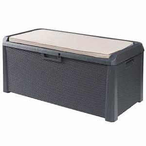Coffre De Jardin Gifi : coffre banc de rangement 560 l coffre abri housse ~ Dailycaller-alerts.com Idées de Décoration