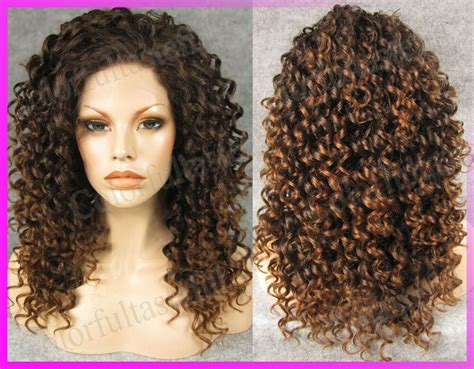 Snughome New Woman Wavy Front Lace Wig Full Wig Synthetic