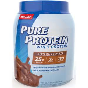 Pure Protein Frosty Chocolate Whey Protein Powder, 2 lbs