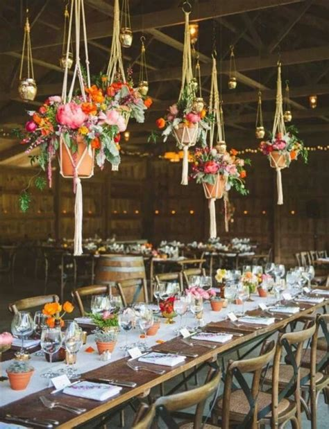 How To Decorate The Tables For A Boho Chic Wedding
