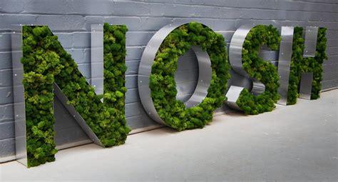 moss sign wall signage signage design moss wall art