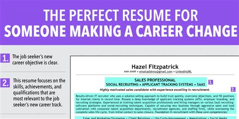 Resume For Career Change by Ideal Resume For Someone A Career Change Business