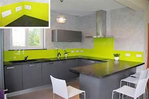 deco cuisine vert anis et gris deco sphair With cuisine gris et vert