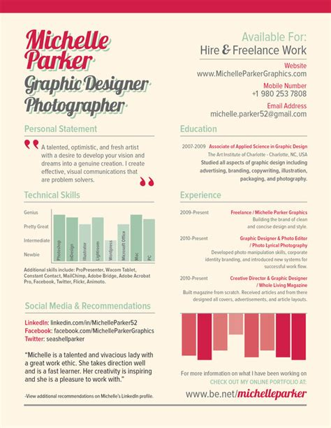 Unique Resumes Exles by Creative Cv Resume Design Milners