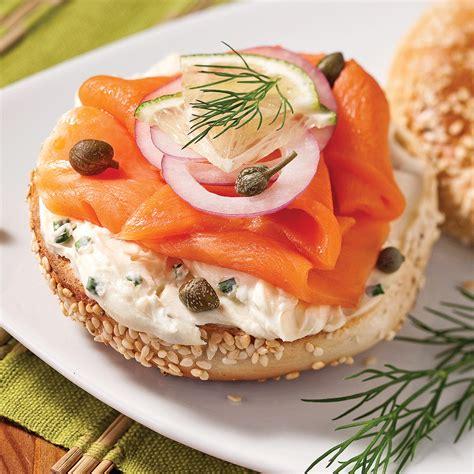 canapé au fromage bagels au saumon fumé soupers de semaine recettes 5 15