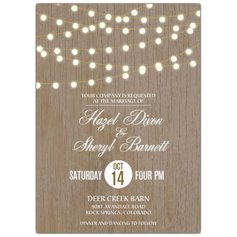 lights lesbian wedding invitations paperstyle