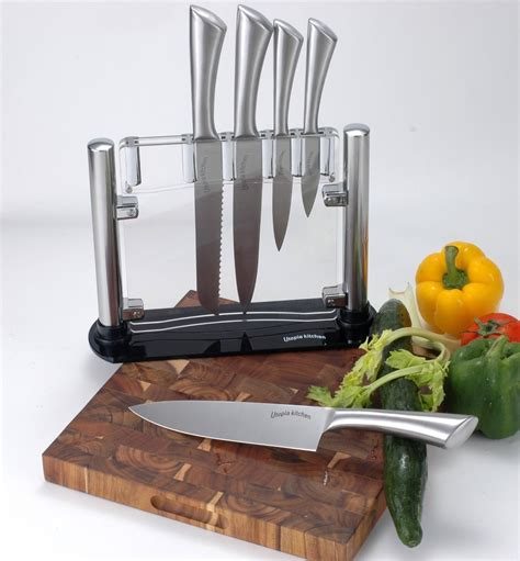knife kitchen knives steel stainless stand sets piece class premium buzzfeed acrylic chef money rust place put brand counter lot