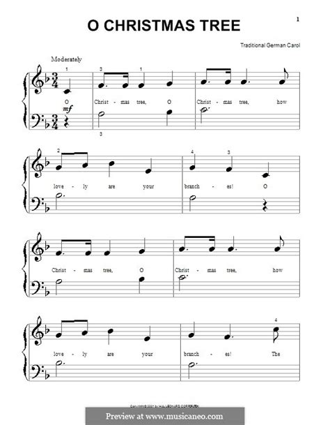 o christmas tree for piano by folklore sheet music on