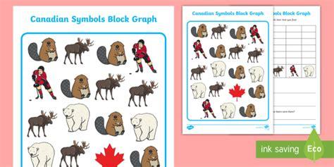 canadian symbols data handling worksheet activity sheet