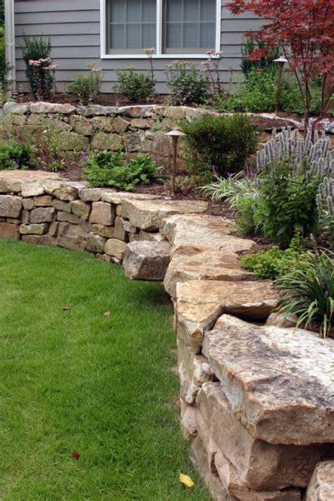 backyard retaining wall ideas  terraced gardens