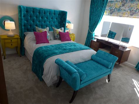 teal and gold bedroom boutique bedroom design style within