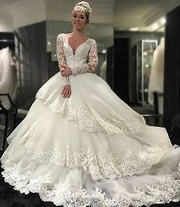 Vintage beaded appliques wedding dresses tiers long for Vintage beaded lace wedding dress