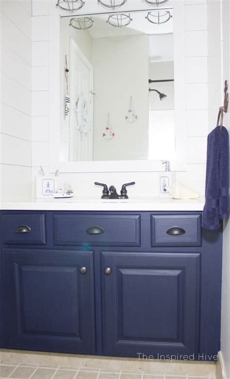 nautical bathroom makeover  inspired hive