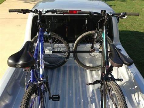 bike rack for bed swagman up truck bed mounted 2 bike carrier locking
