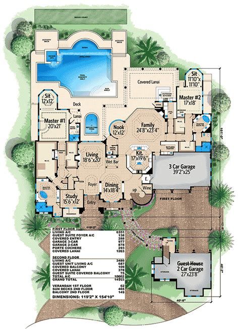 Floor Master House Plans by Plan 66340we Two Master Suites For New Home House