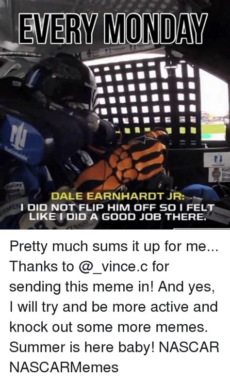 Dale Earnhardt Meme - 194 funny nascar memes of 2016 on sizzle cars