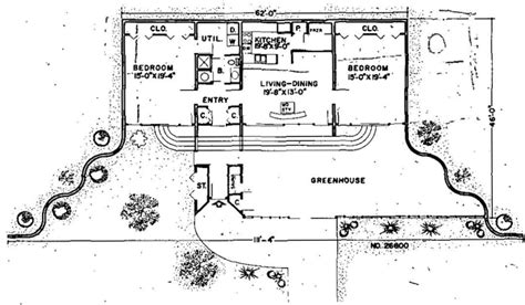 house plan  earth sheltered style   sq ft  bed  bath