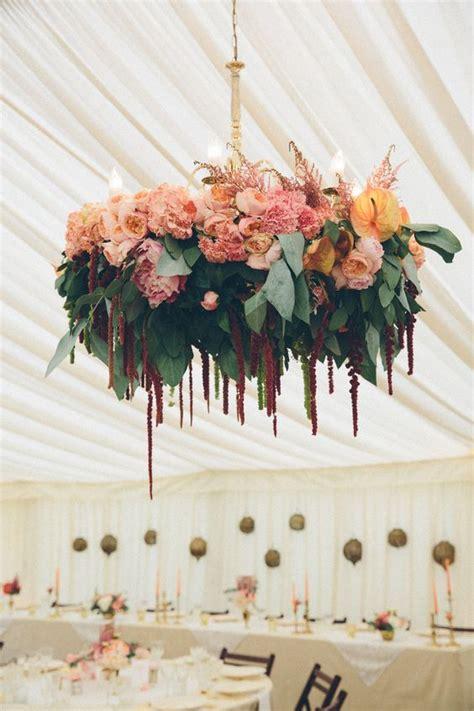 stunning floral wedding chandelier ideas