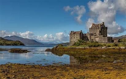 Scotland Donan Eilean Castle Iphone Clouds Lake