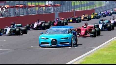 Bugatti Chiron Vs All F1 2017 Cars