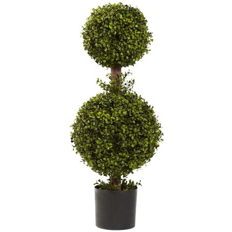 Nearly Natural 35 In Double Boxwood Topiary5920 The