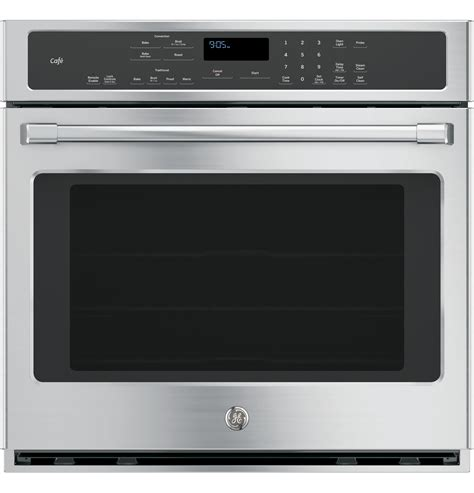ge cafe series  built  single convection wall oven ctshss  appliances