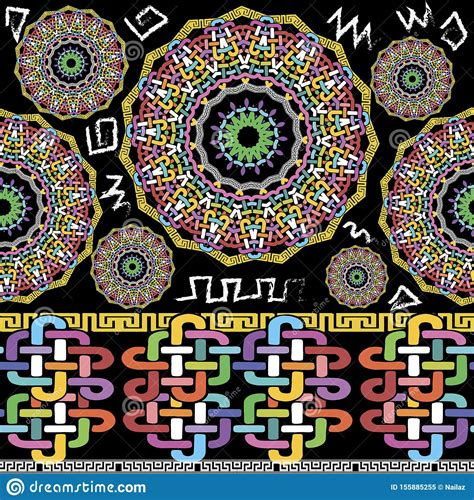 Tribal Ethnic Colorful Vector Seamless Pattern Ornamental