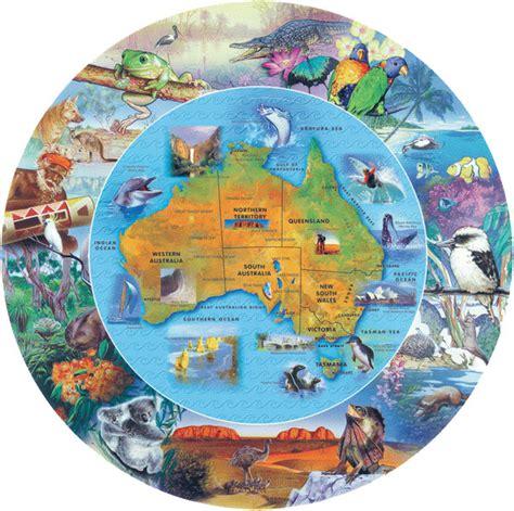 australian map shaped puzzle jigsaw  blue opal