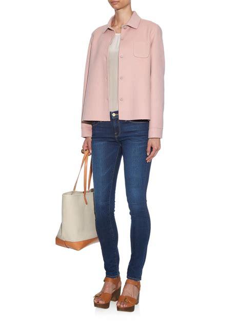 maxmara by hl lyst weekend by maxmara ario reversible jacket in pink